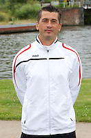 Kortrijk's assistent coach Adnan Custovic poses for the photographer during the 2014-2015 season photo shoot of Belgian first league soccer team KV Kortrijk, Tuesday 08 July 2014 in Kortrijk.