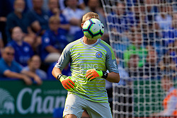 LEICESTER, ENGLAND - Saturday, September 1, 2018: Leicester City's goalkeeper Kasper Schmeichel during the FA Premier League match between Leicester City and Liverpool at the King Power Stadium. (Pic by David Rawcliffe/Propaganda)