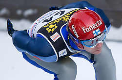 Janne Ahonen of Finland competes during Trial round of the FIS Ski Jumping World Cup event of the 58th Four Hills ski jumping tournament, on January 5, 2010 in Bischofshofen, Austria. (Photo by Vid Ponikvar / Sportida)