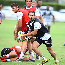 DURBAN, SOUTH AFRICA, 26 January 2016 - Cobus Reinach during The Cell C Sharks Pre Season training for the 2016 Super Rugby Season at Growthpoint Kings Park in Durban, South Africa. (Photo by Steve Haag)<br /> images for social media must have consent from Steve Haag