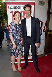 © Licensed to London News Pictures. 18/06/2015. London, UK. Ed Miliband and Justine Thornton arrive at the press night for 1984 at the Playhouse Theatre, Northumberland Avenue in London tonight. Photo credit : Vickie Flores/LNP