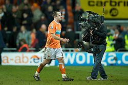 BLACKPOOL, ENGLAND - Tuesday, January 25, 2011: Blackpool's Charlie Adam walks off dejected following his side's unfair 3-2 defeat by Manchester United during the Premiership match at Bloomfield Road. (Photo by David Rawcliffe/Propaganda)