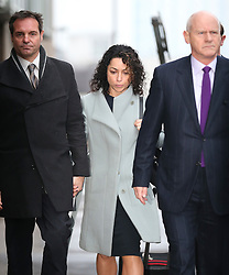 © Licensed to London News Pictures. 06/01/2016. Croydon, UK. Former Chelsea team doctor Eva Carneiro arrives at Croydon Employment Tribunal. Carneiro is claiming constructive dismissal against Chelsea football club. Photo credit: Peter Macdiarmid/LNP