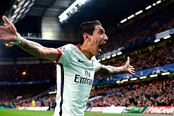 09.03.2016, Stamford Bridge, London, ENG, UEFA CL, FC Chelsea vs Paris Saint Germain, Achtelfinale, Rueckspiel, im Bild di maria angel // during the UEFA Champions League Round of 16, 2nd Leg match between FC Chelsea vs Paris Saint Germain at the Stamford Bridge in London, Great Britain on 2016/03/09. EXPA Pictures © 2016, PhotoCredit: EXPA/ Pressesports/ MOUNIC ALAIN<br /> <br /> *****ATTENTION - for AUT, SLO, CRO, SRB, BIH, MAZ, POL only*****