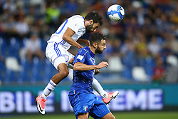 September 5, 2017 - Reggio Emilia, Italy - Ofir Davidzada of Israel and Antonio Candreva of Italy during the FIFA World Cup 2018 qualification football match between Italy and Israel at Mapei Stadium in Reggio Emilia on September 5, 2017. (Credit Image: © Matteo Ciambelli/NurPhoto via ZUMA Press)