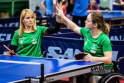 MEGLIC Barbara (SLO) and DOLINAR Andreja (SLO) during Team events at Day 3 of 16th Slovenia Open - Thermana Lasko 2018 Table Tennis for the Disabled, on May 10, 2019, in Dvorana Tri Lilije, Lasko, Slovenia. Photo by Grega Valancic / Sportida