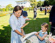 Crown princess Victoria's 40th Birthday at Solliden, 15-07-2017