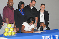 Water Valley softball player Ashley Phillips signs to play with Mississippi State in Water Valley, Miss. on Monday, November 15, 2010.