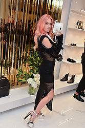 LADY MARY CHARTERIS at the launch of the new Giusepe Zanotti store in Conduit Street, London on 26th October 2016.