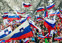 Supporters of Slovenia during the Ski Flying Individual Competition at Day 2 of FIS World Cup Ski Jumping Final, on March 20, 2015 in Planica, Slovenia. Photo by Vid Ponikvar / Sportida