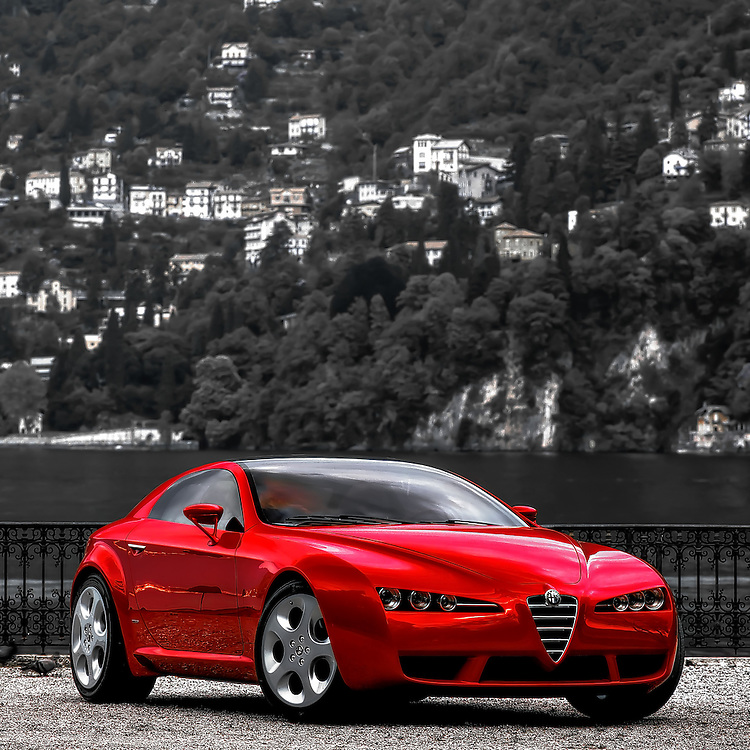Alfa Romeo Brera Concept car by Giugiaro,<br /> Villa Erba<br /> Cernobbio, Italy