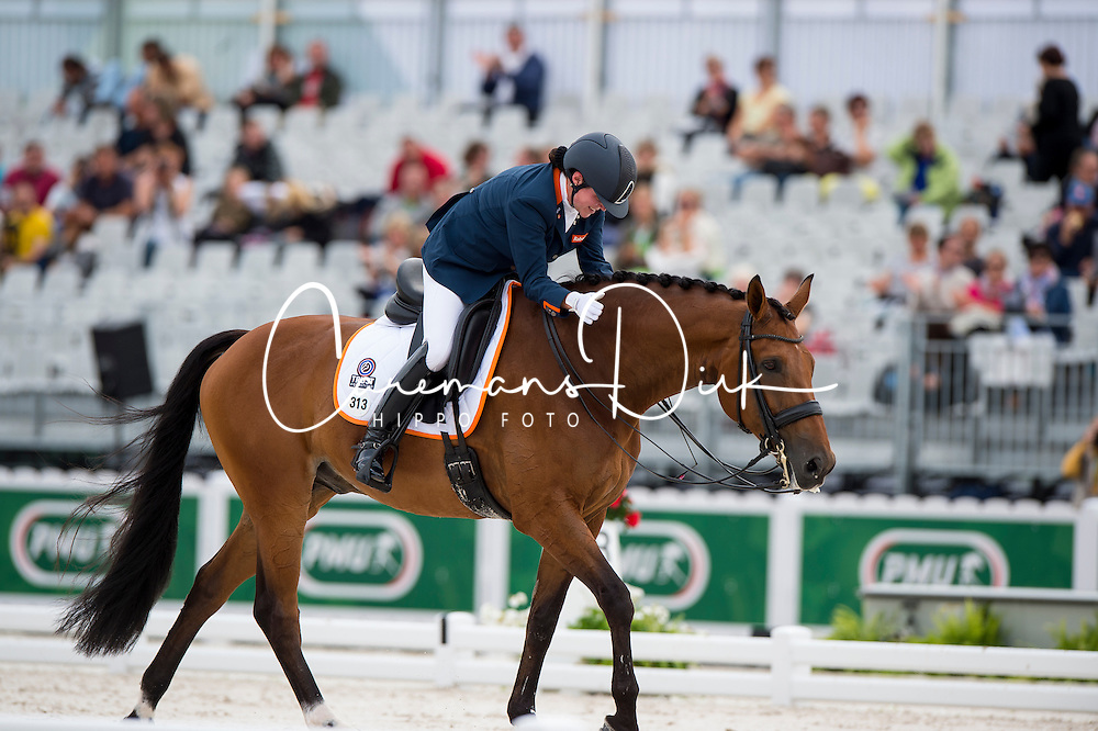 Sanne Voets, (NED), Vedet Pb - Individual Test Grade III Para Dressage - Alltech FEI World Equestrian Games™ 2014 - Normandy, France.<br /> © Hippo Foto Team - Jon Stroud <br /> 25/06/14