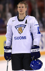 Mikko Koivu of Finland  at ice-hockey match Finland vs USA at Qualifying round Group F of IIHF WC 2008 in Halifax, on May 11, 2008 in Metro Center, Halifax, Nova Scotia, Canada. (Photo by Vid Ponikvar / Sportal Images)