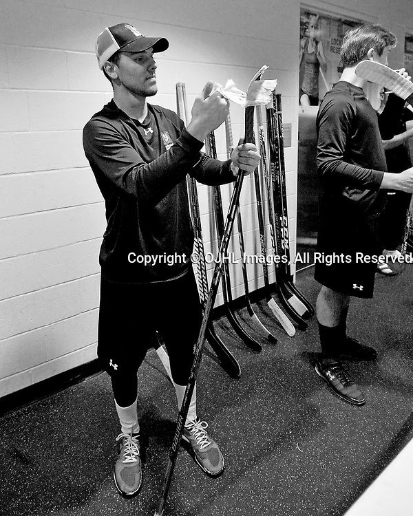 BUFFALO, NY - SEP 21,  2017: Ontario Junior Hockey League Governors Showcase, behind the scenes.  <br /> (Photo by Shawn Muir / OJHL Images)