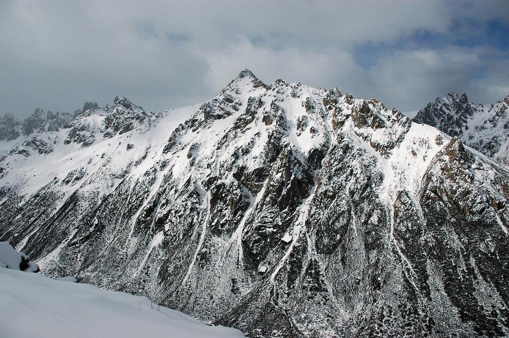 The Chola Mountains between Ganzi and Dege - March 23, 2008 - Michael Benanav - 5505-579-4046
