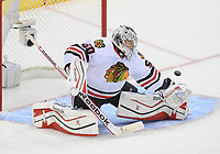 26 May 2014 Chicago Blackhawks Goalie Corey Crawford 50  makes A Save during Game 4 of The Western Conference Final between The Chicago Blackhawks and The Los Angeles Kings AT The Staples Center in Los Angeles Approx NHL Ice hockey men USA May 26 Stanley Cup Playoffs Western Conference Final Blackhawks AT Kings Game 4 <br />