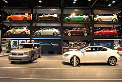 11 February 2009: Scion display. The Chicago Auto Show is a charity event of the Chicago Automobile Trade Association (CATA) and is held annually at McCormick Place in Chicago Illinois.