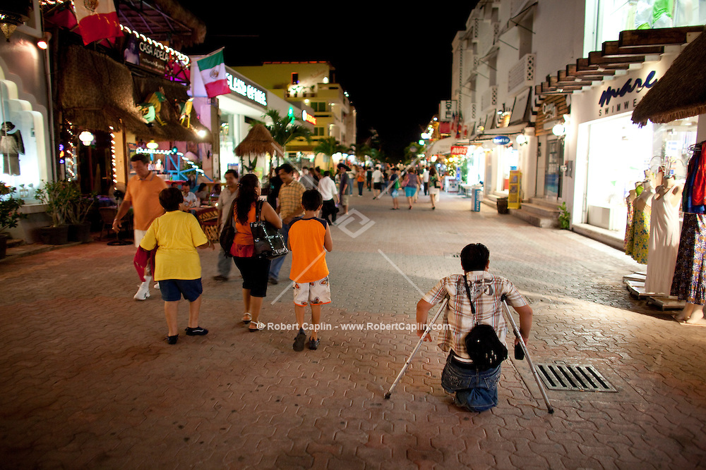 5th Avenue in Playa del Carmen, Mexico. (Photo By Robert Caplin