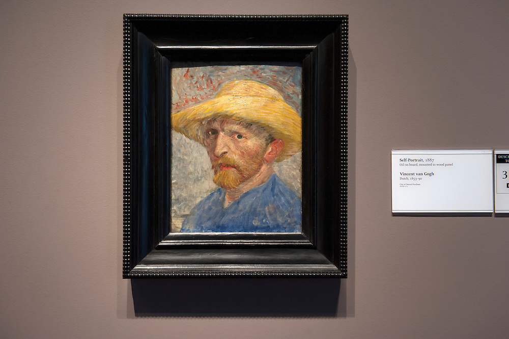 Vincent Van Gogh, Dutch, 1853-90. Self Portrait, 1887.<br /> Art in Detroit 2013<br /> &copy; Stefan Falke<br /> www.stefanfalke.com