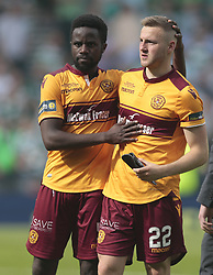 Motherwell's Gael Bigirimana (left) consoles Allan Campbell after the William Hill Scottish Cup Final at Hampden Park, Glasgow.