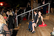 BENEDICT WILKINSON; MIA SPENCE, The Summer Party. Hosted by the Serpentine Gallery and CCC Moscow. Serpentine Gallery Pavilion designed by Frank Gehry. Kensington Gdns. London. 9 September 2008.  *** Local Caption *** -DO NOT ARCHIVE-© Copyright Photograph by Dafydd Jones. 248 Clapham Rd. London SW9 0PZ. Tel 0207 820 0771. www.dafjones.com.