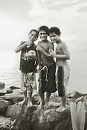 Boys Posing, Apolima-Uta, Samoa