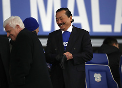 Cardiff City owner Vincent Tan (right) during the Sky Bet Championship match at The Den, London.
