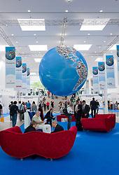 Entrance hall at Photokina digital imaging trade show in Cologne Germany