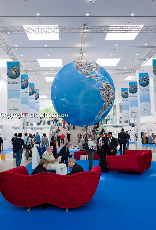 Entrance hall at Photokina digital imaging trade show in Cologne Germany
