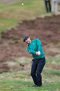 Trevor Immelman of South Africa hits out of the rough during the British Masters 2018 at Walton Heath Golf Course, Walton On the Hill, Surrey on 12 October 2018. Picture by Martin Cole.