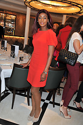 PHOEBE VELA at a lunch to launch Cash & Rocket on Tour 2013 hosted by Julia Brangstrup in aid of Orpan Aid and Shine on Sierrra Leone held at Banca, 40 North Audley Street, London on 29th April 2013.