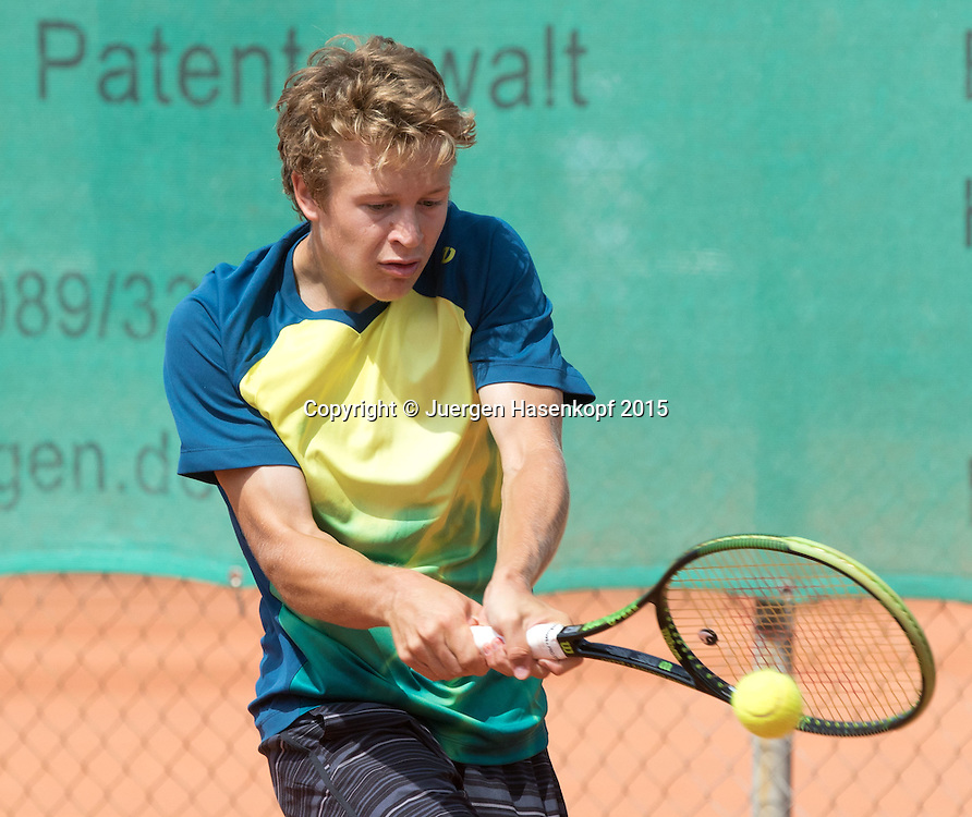 Fabian Penzkofer (GER)-M&uuml;nchen Junior Open<br /> <br /> Tennis - Audi GW plus Zentrum M&uuml;nchen Junior Open 2015 - ITF Junior Tour -  SC Eching - Eching - Bayern - Germany  - 15 August 2015. <br /> &copy; Juergen Hasenkopf