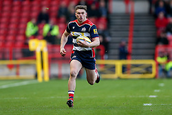 Jason Woodward of Bristol Rugby in action - Rogan Thomson/JMP - 26/12/2016 - RUGBY UNION - Ashton Gate Stadium - Bristol, England - Bristol Rugby v Worcester Warriors - Aviva Premiership Boxing Day Clash.