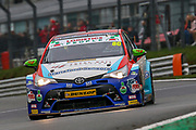 Tom Ingram - Speedworks Motorsport - Toyota Avensis wins round 3 of the Dunlop MSA British Touring Car Championship at Brands Hatch, Fawkham, United Kingdom on 8 April 2018. Picture by Aaron  Lupton.