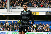Matt Ingram (1) of Queens Park Rangers during the The FA Cup 3rd round match between Queens Park Rangers and Leeds United at the Loftus Road Stadium, London, England on 6 January 2019.