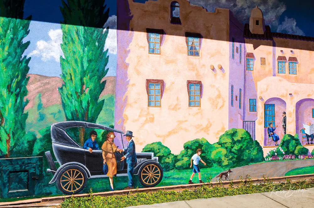 Mural in Lone Pine, California USA