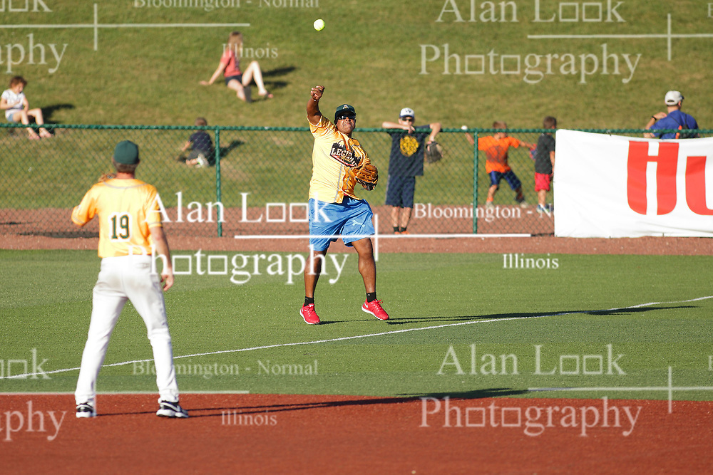 29 July 2017:  during a Legends Baseball game sponsored by the Normal CornBelters at Corn Crib Stadium on the campus of Heartland Community College in Normal Illinois