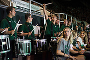 AUGUST 26, 2018  ATHENS, OHIO:<br /> The Ohio University Marching 110 drum line performs at the close of the freshman convocation at the Convocation Center on August 26, 2018 in Athens, Ohio.