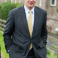 Secretary of State for Scotland Michael Moore MP pictured walking through the village of Bridge of Earn whilst on visit to Perthshire...29.08.12<br /> Picture by Graeme Hart.<br /> Copyright Perthshire Picture Agency<br /> Tel: 01738 623350  Mobile: 07990 594431