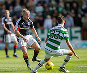 Dundee&rsquo;s Nicky Low runs at Celtic&rsquo;s Mikael Lustig - Dundee v Celtic in the Ladbrokes Scottish Premiership at Dens Park, Dundee. Photo: David Young<br /> <br />  - &copy; David Young - www.davidyoungphoto.co.uk - email: davidyoungphoto@gmail.com