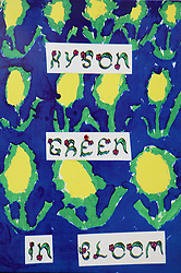 Hyson Green in Bloom; Children's paintings in the community,
