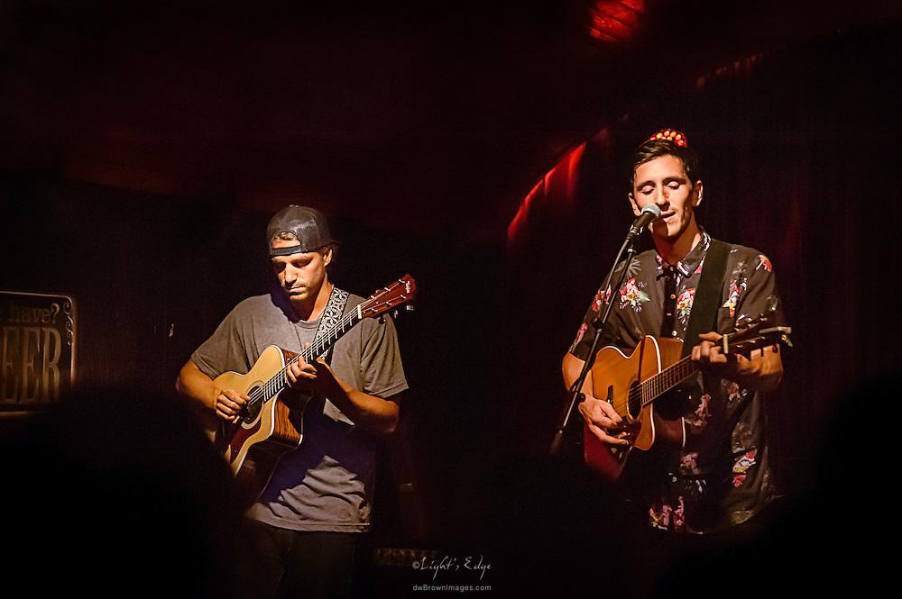Brett Haenn and John Shields of Long Miles performing at Kung Fu Nectie in Philadelphia, PA.
