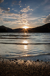 """Donner Lake Sunset 13"" - Photograph of a sun setting at Donner Lake in Truckee, California."