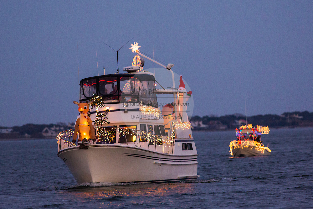 Decorated boats during the annual Holiday Parade of Boats December 1, 2012 in Charleston, SC.