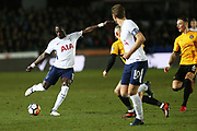 Tottenham Hotspur  Moussa Sissoko (17) on the ball  during the The FA Cup 4th round match between Newport County and Tottenham Hotspur at Rodney Parade, Newport, Wales on 27 January 2018. Photo by Gary Learmonth.