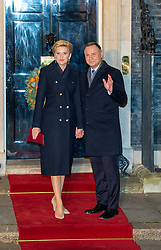 © Licensed to London News Pictures. 03/12/2019. London, UK. President of Poland Andrzej Duda arrives in Downing Street as NATO Leaders' gather for a reception hosted by United Kingdom Prime Minister Boris Johnson.<br /> Allied leaders are in London for a NATO summit. The summit also marks NATO's 70th anniversary.<br /> Photo credit: Peter Manning/LNP <br /> <br /> <br /> .