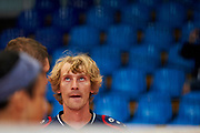 Katowice, Poland - 2017 September 03: Athlete Martin Chocholousek from SO Czech Republic looks at scoreboard while Third Place match between SO Azerbaijan and SO Czech Republic during European Unified Volleyball Tournament 2017 at Spodek Hall on September 03, 2017 in Katowice, Poland.<br /> <br /> Adam Nurkiewicz declares that he has no rights to the image of people at the photographs of his authorship.<br /> <br /> Picture also available in RAW (NEF) or TIFF format on special request.<br /> <br /> Any editorial, commercial or promotional use requires written permission from the author of image.<br /> <br /> Image can be used in the press when the method of use and the signature does not hurt people on the picture.<br /> <br /> Mandatory credit:<br /> Photo by &copy; Adam Nurkiewicz / Mediasport