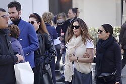 EXCLUSIVE: Eva Longoria spotted in Rome with a friend and film producer Andrea Iervolino. Eva and her friends visited the Trevi Fountain, the Spanish Step, and St. James's Church, where Eva stopped and said a prayer. 23 Feb 2020 Pictured: Eva Longoria, Andrea iervolino. Photo credit: MEGA TheMegaAgency.com +1 888 505 6342