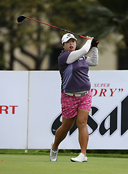 April 13, 2018 - Kapolei, HI, U.S. - KAPOLEI, HI - APRIL 13: Shanshan Feng of China hits her drive on the ninth hole during the third round of the LPGA Tour LOTTE Championship at the Ko Olina Golf Club, Friday, April 13, 2018, in Kapolei, HI. (Photo by Darryl Oumi/Icon Sportswire) (Credit Image: © Darryl Oumi/Icon SMI via ZUMA Press)