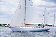 Capella sailing in the Corinthian Classic Yacht Regatta.